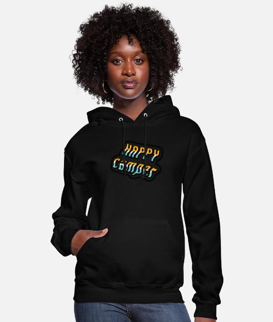 Camper Hoodies & Sweatshirts - Happy Camper - Gift idea - Women's Hoodie black