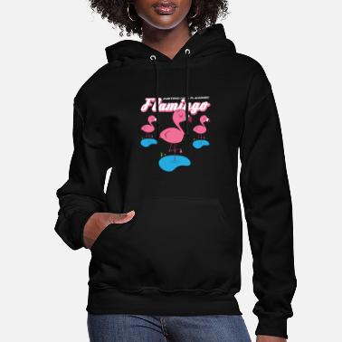 Flamingoes Cute Pink Flamingo - Women's Hoodie