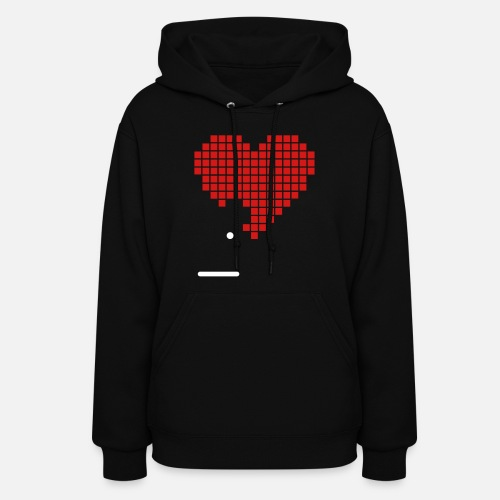 1b2016a500e0 Pixel Heart Game Nerd Love 2c Women s Hoodie
