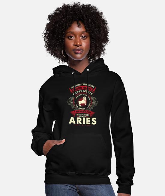 The Vampire Diaries Pajamas Hoodies & Sweatshirts - Aries - I never said I am a perfect aries t - shir - Women's Hoodie black
