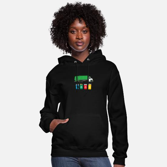 Truck Hoodies & Sweatshirts - Recycle Garbage - Women's Hoodie black
