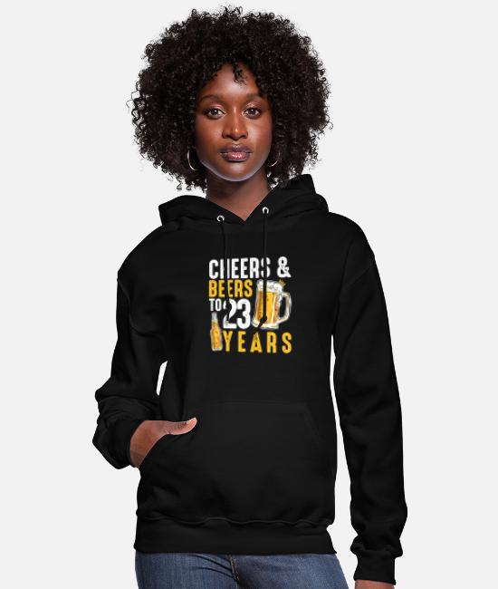 Drinking Hoodies & Sweatshirts - 23rd Birthday Gifts Drinking Shirt for Men or - Women's Hoodie black