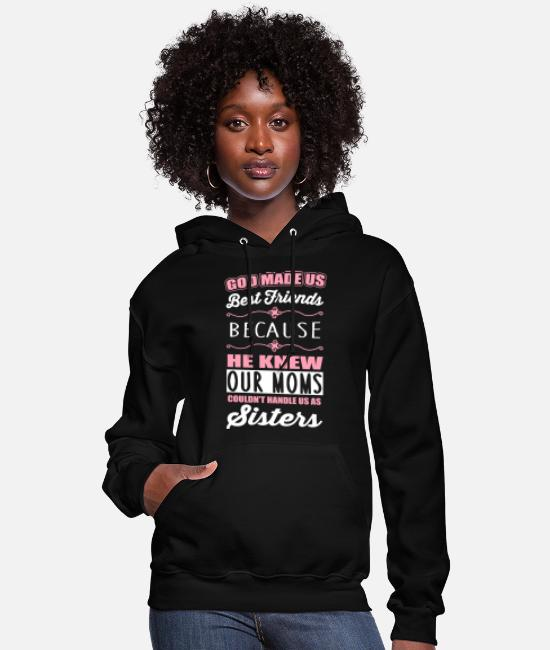 Bff Hoodies & Sweatshirts - God made us best friends - BFF - Women's Hoodie black