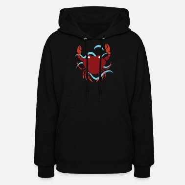 Seafood Crab on the Sea - Women's Hoodie