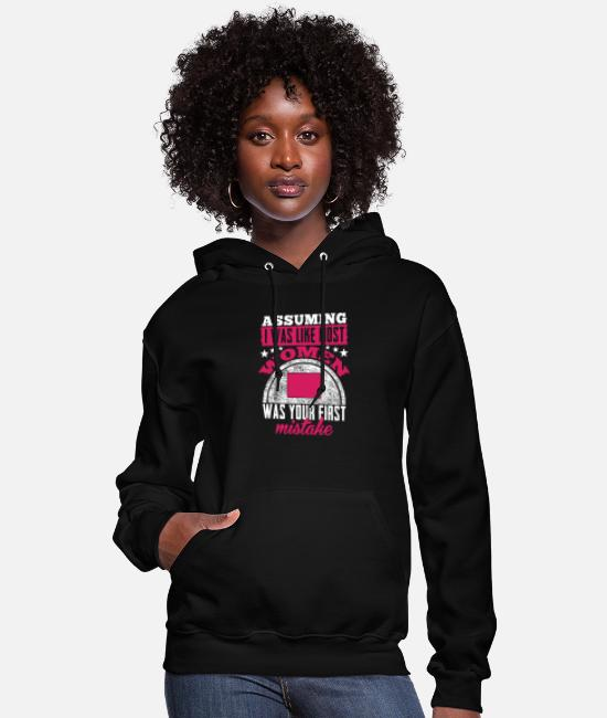 Mountains Hoodies & Sweatshirts - Colorado - Assuming I was like most women t - sh - Women's Hoodie black
