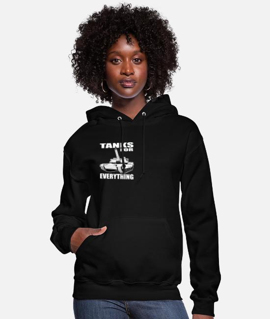 Temporary Soldier Hoodies & Sweatshirts - Tanks For All Purposes All Soldier Gift - Women's Hoodie black