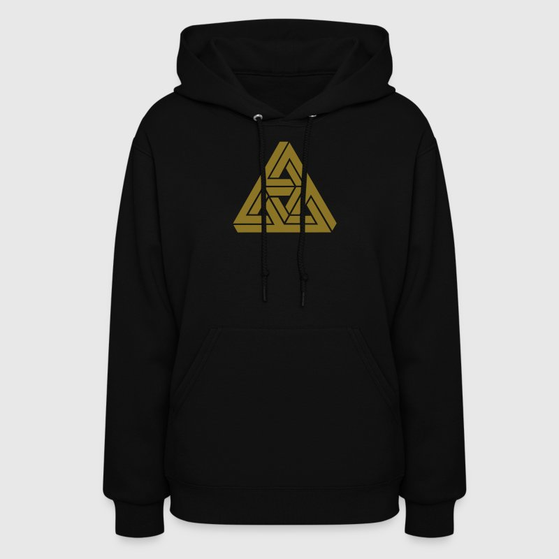Impossible triangle optical illusion, Escher,  - Women's Hoodie