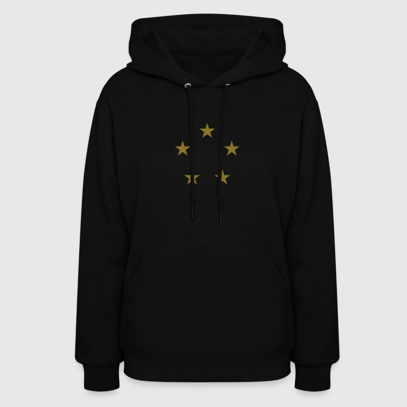 five stars circle - Women's Hoodie