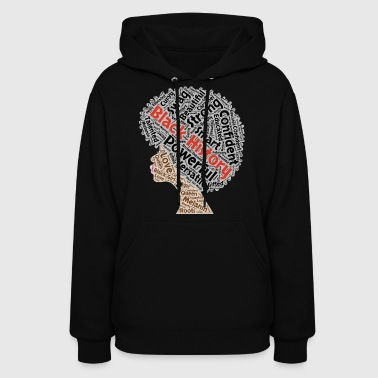 Black History Month Natural Hair Afro - Women's Hoodie