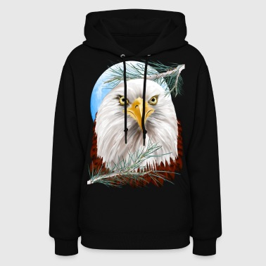 Eagle In The Pines - Women's Hoodie