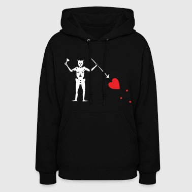 Blackbeard Edward Teach Pirate Flag - Women's Hoodie