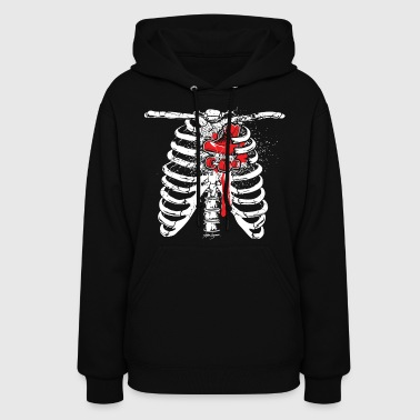 Heart of a Skater Skeleton - Women's Hoodie