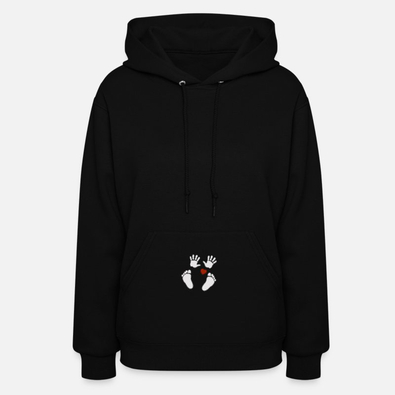 Baby Hands Hoodies & Sweatshirts - Baby Hands N Heart - Women's Hoodie black