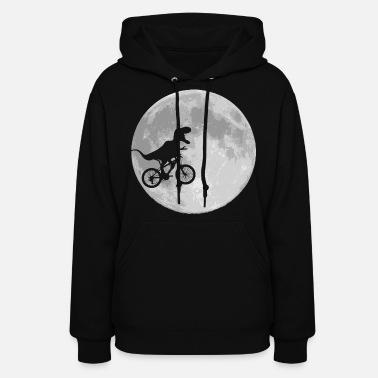 Dinosaur Bike and MOON - Women's Hoodie