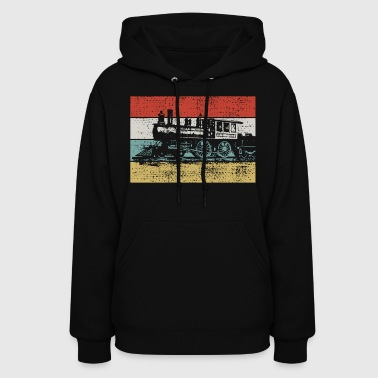Vintage steam locomotive - Women's Hoodie
