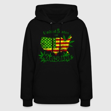 US of Marijuana  vintage - Women's Hoodie