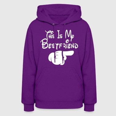 This Is My Bestfriend (Pointing Left) - Women's Hoodie