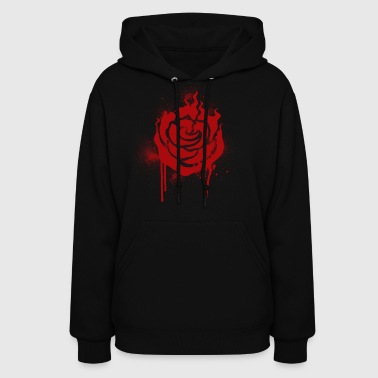 RWBY Ruby Spray paint Rose - Women's Hoodie