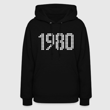 Birth 1980, Numbers, Year, Year Of Birth - Women's Hoodie