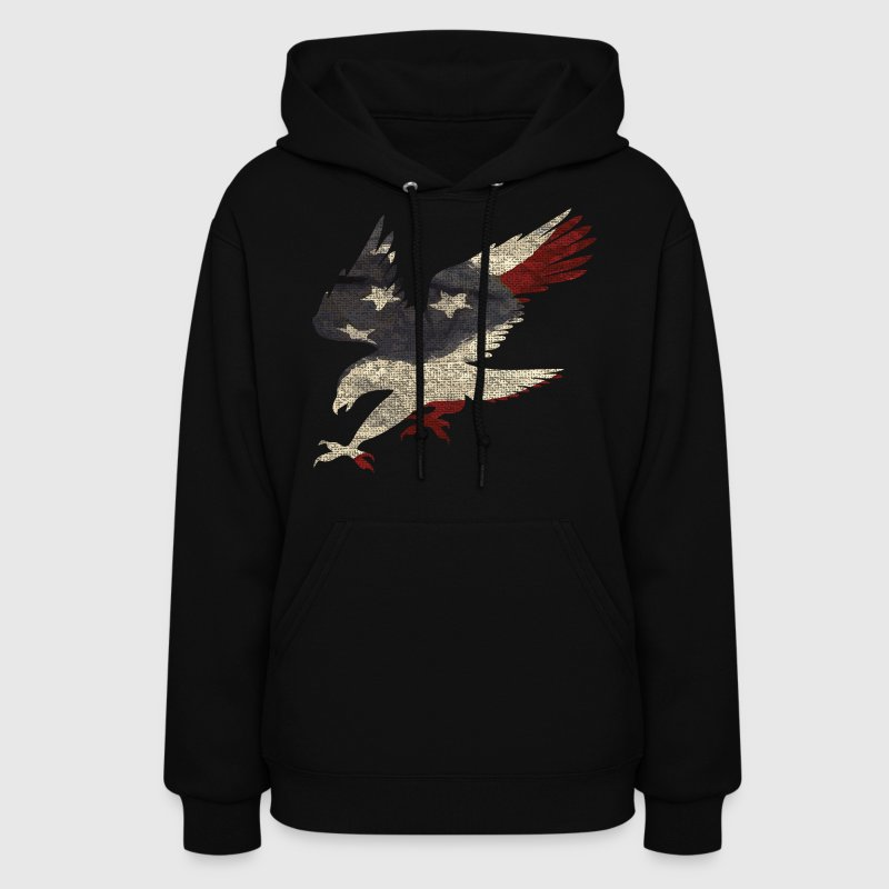 Old Glory American Flag Eagle Clothing Apparel USA - Women's Hoodie