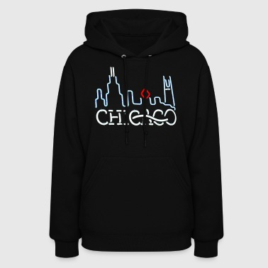 Neon Chicago Sign - Women's Hoodie