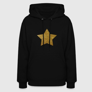 Gold Star Glitter Design - Women's Hoodie