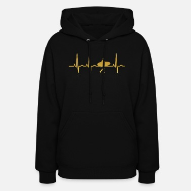 Surfer evolution ekg heartbeat surfer surf - Women's Hoodie