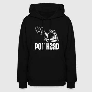 Pot Head - steam coffee & tea water boiler - Women's Hoodie