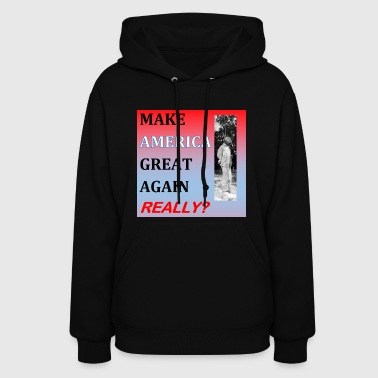 Donald Trump resistance black power t shirt. - Women's Hoodie