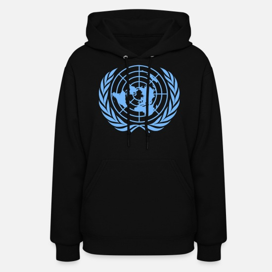 United Hoodies & Sweatshirts - United Nations Symbol - Women's Hoodie black