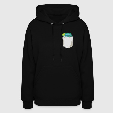 Just Go Everywhere With My Chameleon In Pocket - Women's Hoodie