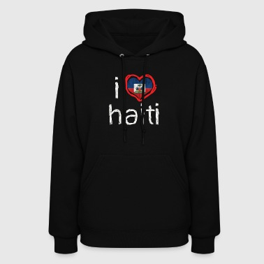 I HEART HAITI kids text (white text on transparent background) - Women's Hoodie