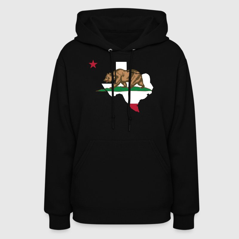 Texas California Funny Pride Flag Apparel - Women's Hoodie