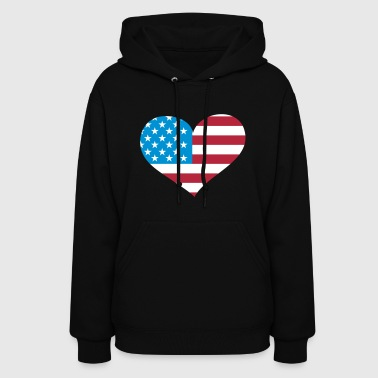 USA  Heart; Love USA - Women's Hoodie