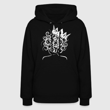 Curly Queen with Crown_ GlobalCouture Hoodies - Women's Hoodie