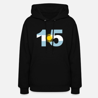 Argentinia Numbers, 15, Jersey Numbers Argentinia - Women's Hoodie
