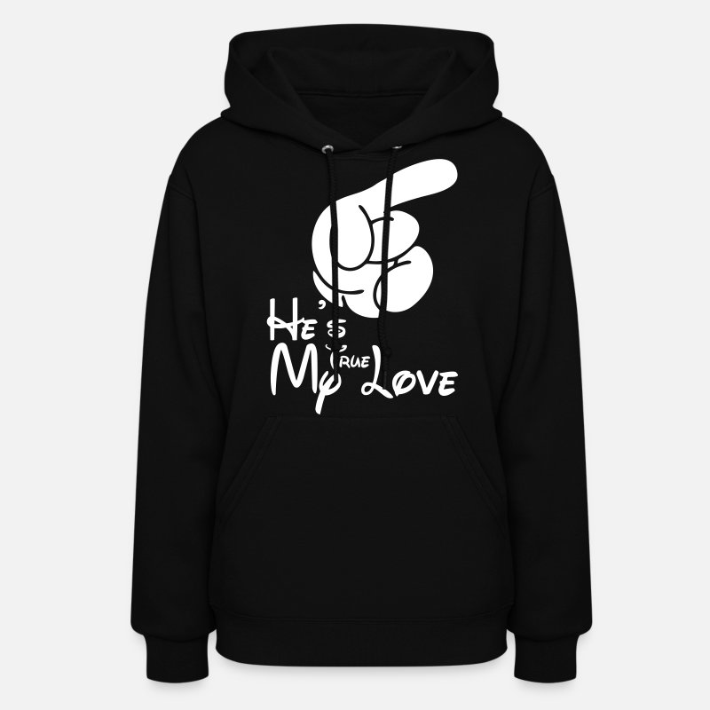 True Love Hoodies & Sweatshirts - He's My True Love - Women's Hoodie black