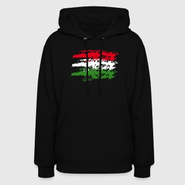 Hungary Flag Vintage Graffiti Support Country - Women's Hoodie