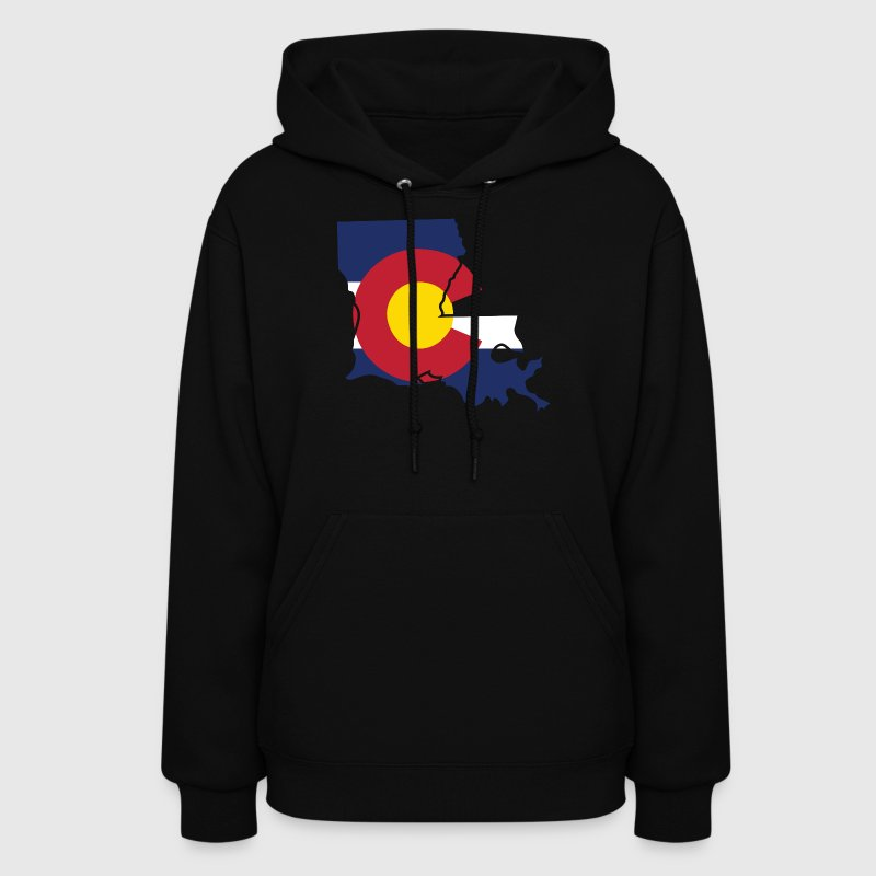 Louisiana Colorado Funny Pride Flag Tshirt - Women's Hoodie