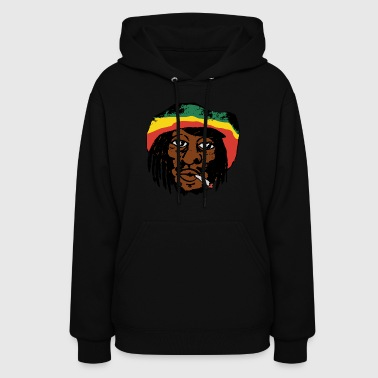 Bob Marley smoking a Spliff - Women's Hoodie