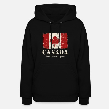 Canada Canada Maple Leaf Flag - Vintage Look - Women's Hoodie