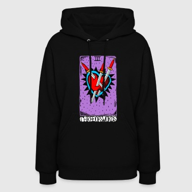 The Three of Swords Tarot - Women's Hoodie
