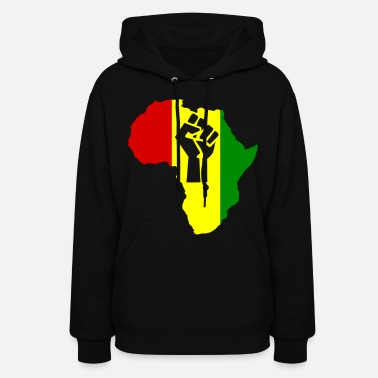 Popular Africa Power Rasta Reggae - Women's Hoodie