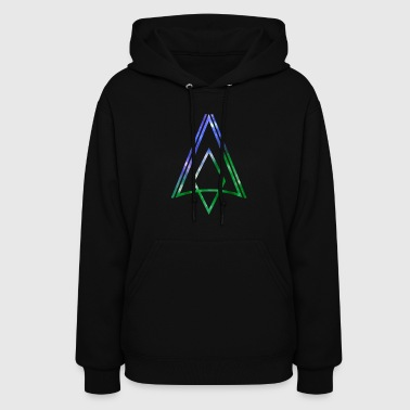 BLUE AND GREEN GALACTIC ARROW - Women's Hoodie