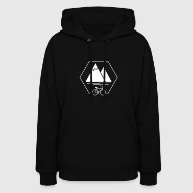 Mountain Bike Hexagon - Women's Hoodie