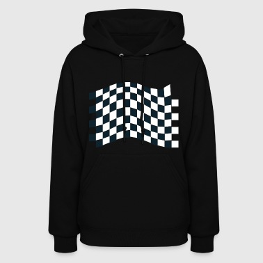 Checkered Flag dragster racer automotive car automobil rennwagen2 - Women's Hoodie