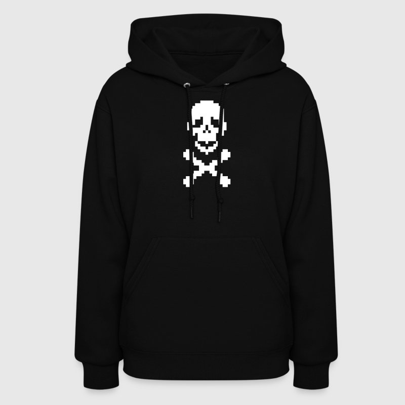 Pirate pixel art crossed bones - Women's Hoodie