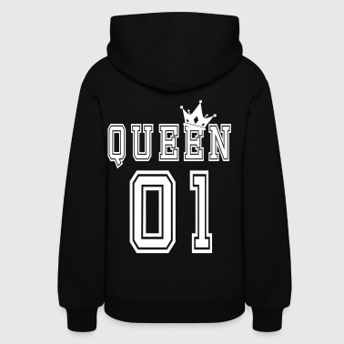 Relationship Valentine's Matching Couples Queen Jersey - Women's Hoodie