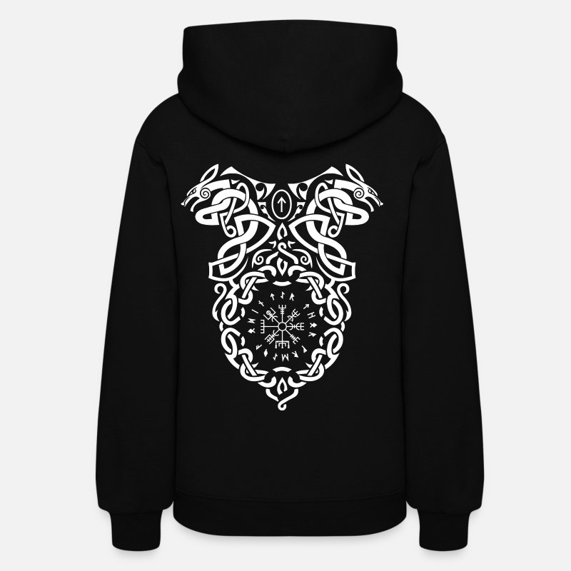Viking Hoodies & Sweatshirts - Vikings Vegvisir Knot - Women's Hoodie black