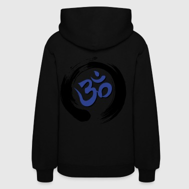 Auṃ or Oṃ with Zen Ensō Circle - Women's Hoodie